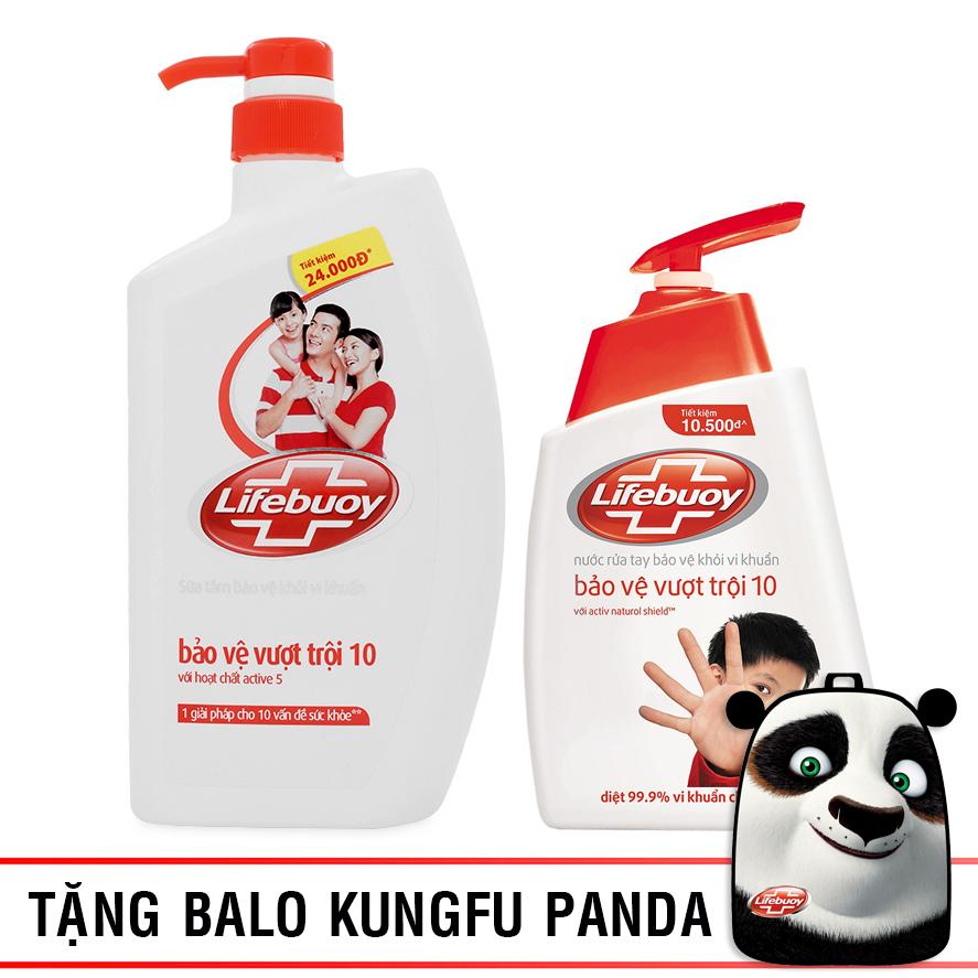 Bộ Sản Phẩm Lifebuoy Bảo vệ toàn diện: Sữa Tắm 850g + Nước Rửa Tay 500g - 21126129