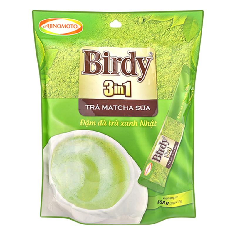 Bịch 24 Gói Birdy 3in1 Trà Matcha Sữa