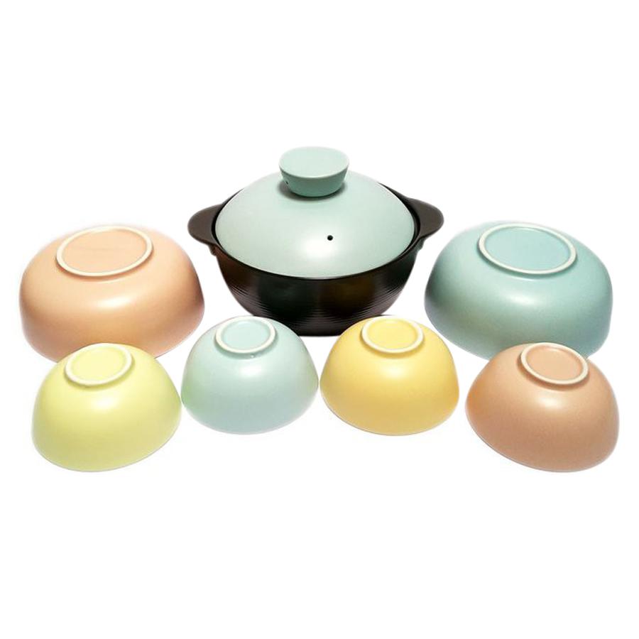 Bộ Tô Chén Đĩa Pastel Donghwa