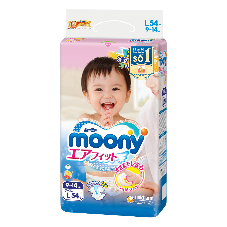 Tã Dán Moony Gói Đại L54 ( 54 Miếng )