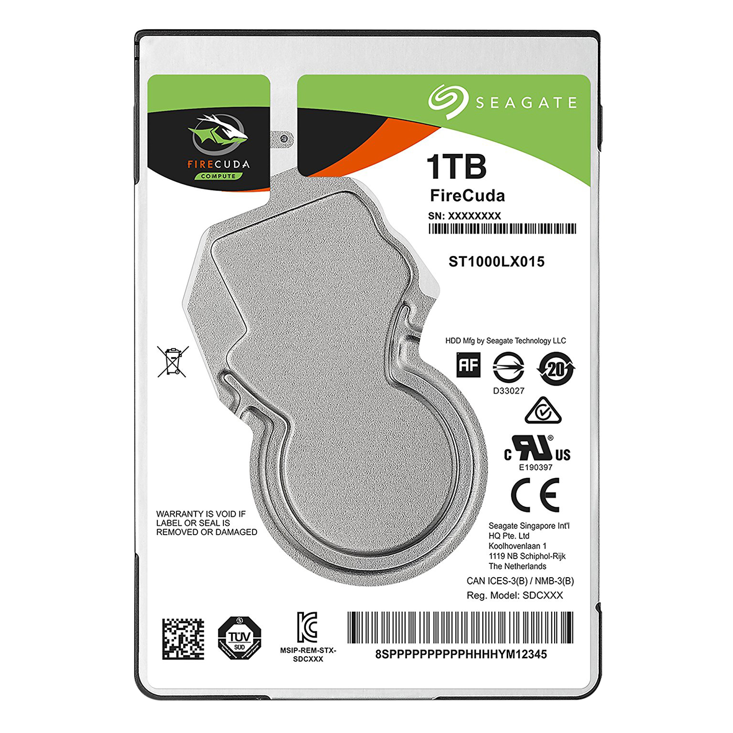 Ổ Cứng Trong Seagate FireCuda 1TB/2.5 - ST1000LX015
