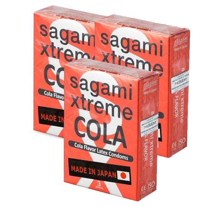 Combo 3 Hộp Sagami Xtreme Cola (Hộp 3 Gói)