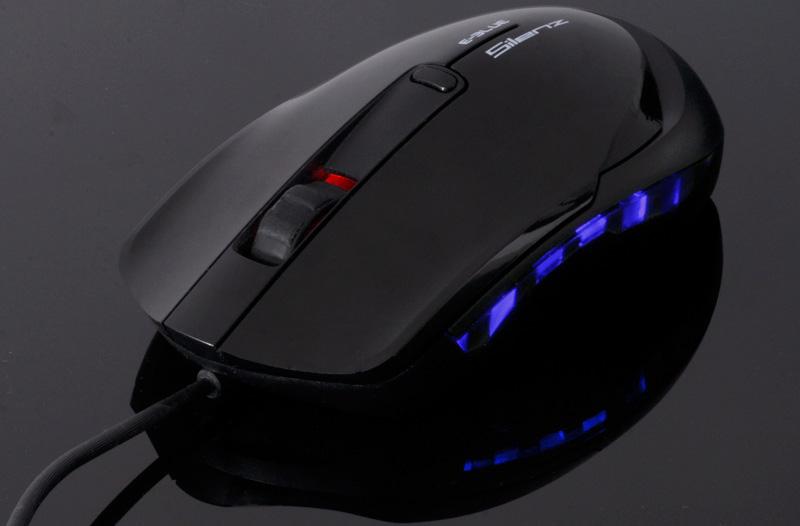 E-BLUE Puntero EMS145 có đèn led màu xanh dương khi chuột hoạt động