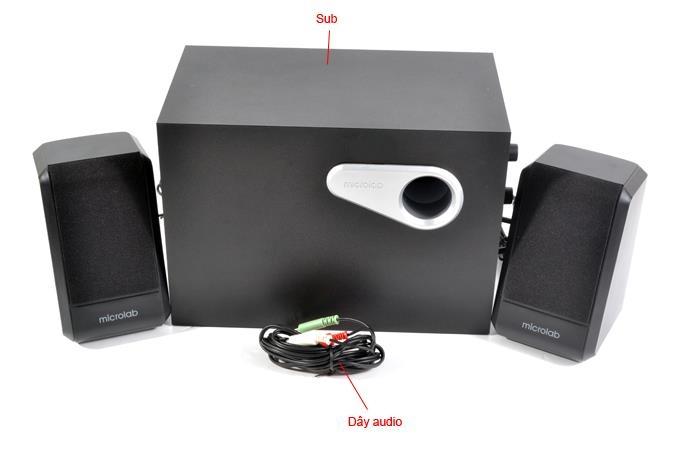 Bộ Loa Microlab M-280 âm thanh 2.1