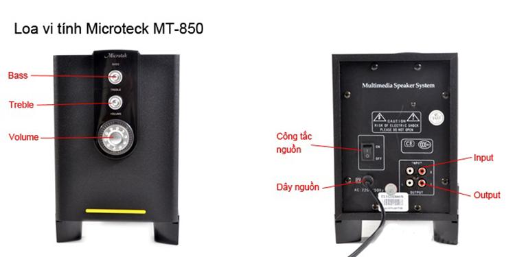 Một số nút chức năng trên loa Microtek MT 850