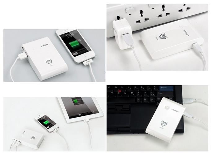 Pisen 10000 mAh cổng sạc MicroUSB, sạc pin cổng USB hoặc Adapter